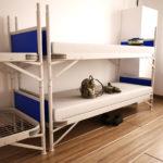 Betten mieten - Bundeswehrbetten Einrichtungsbeispiel